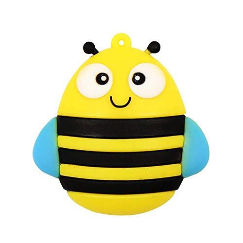 Chiavetta USB da 32 GB Novità Pen Drive a forma di ape animale Super Cute Bee Cartoon Thumb Drive Memory Stick Memoria USB 2.0 Pendrive - Civetman