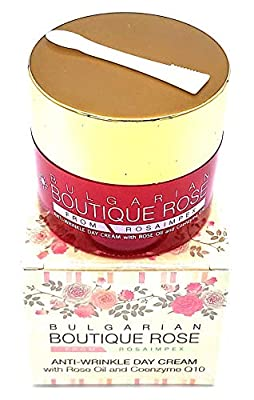 Anti-wrinkle Day Cream with Coenzyme Q10 and Natural Rose Oil by Boutique Rose, Paraben-Free, No Preservatives from Bulgarian Rose
