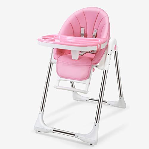 B&H-ERX kindertafel en meer, kinderstoel, kinderstoel met afneembare verstelbare lade, rugleuning, opbergmandje, in hoogte verstelbare hoge stoel voor kinderen
