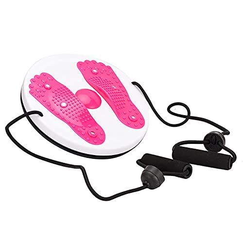 ZGHYBD Twisting Waist Disc Exercise Twist Board - Twisting The Waist Dish Female Body Equipment,Body Shaping Rotating Balance Board Foot Massage Home Fitness Equipment (Red)