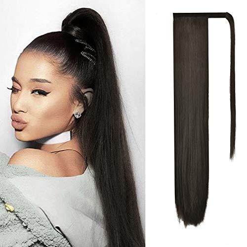 FESHFEN Posticci per capelli Extension Coda Di Cavallo CapelliLunga Estensione Capelli sintetica a coda di cavallo lunga e dritta 71cm, 150g