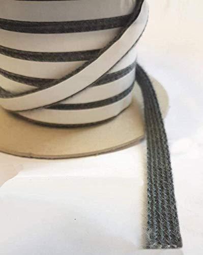 Kamindichtung Ofendichtschnur selbstklebend Dichtband Glas Tür Kamin Ofen Dichtung aus Glasfasern hitzebeständig bis 550 °C Länge 3 Meter Breite 10x3mm