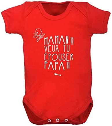 Baby Vest maman va vous épouser papa Proposition Mariage Body