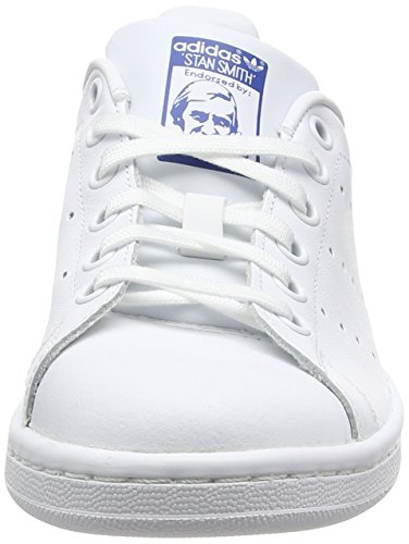 adidas Stan Smith J, Zapatillas de Gimnasia Unisex Adulto, Blanco (FTWR White/FTWR White/EQT Blue FTWR White/FTWR White/EQT Blue), 38 2/3 EU