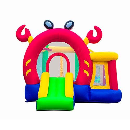 Ballsea Castillo Hinchable, Forma de Cangrejo con Tobogán, Castillo Infantil Juego Niño de 3 a 12 Años (Paño de Oxford)