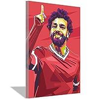 フットボール選手モハメドサラーHDキャンバス絵画アートポスター家の壁の装飾絵画フットボールのファン寝室リビングルームスタジオ装飾ポスター40x60cm(16x24inch)フレームなし