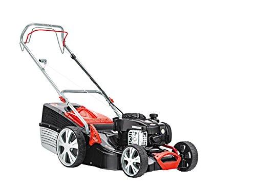 AL-KO Benzin-Rasenmäher Classic 4.65 SP-B Plus, 46 cm Schnittbreite, 2.0 kW Motorleistung, für Rasenflächen bis 1.400 m², inkl. Mulchkeil, mit Radantrieb, inkl. 65 l Fangkorb mit Füllstandsanzeige