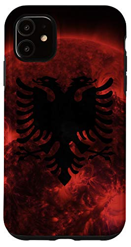 iPhone 11 Albanian Sun - Artistic Albania Flag Case