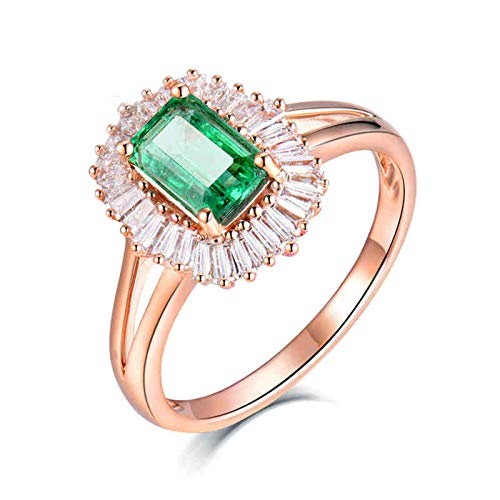 ButiRest Mujer Kein-Metall-Stempel (Mode nur) oro rojo 18 quilates (750) esmeralda verde Emerald