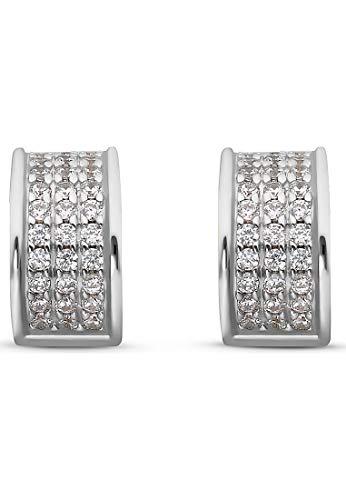 JETTE Silver Damen-Creolen 925er Silber 66 Zirkonia One Size Silber 32010626