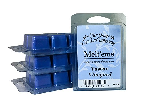 Our Own Candle Company Premium Wax Melt, Tuscan Vineyard, 6 Cubes, 2.4 oz (4 Pack)