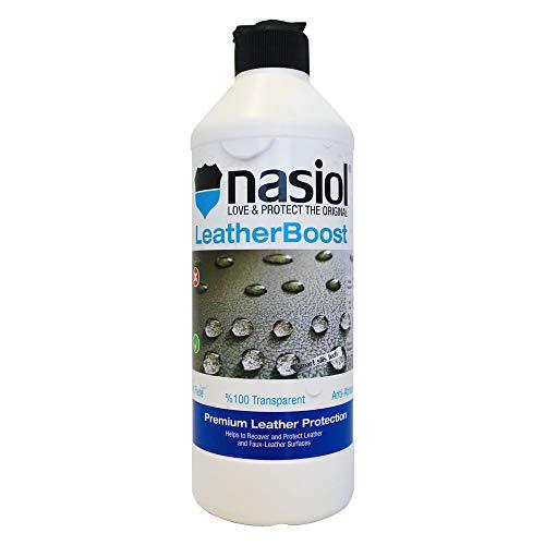 Nasiol LeatherBoost Nanoschutz für Lederpflege Autositze, Autopflege Innenraum, Leder Pflegemittel Auto, Autositzschutz, Lederpflege für Ledercouch, Imprägnierspray Leder 17fl.oz.