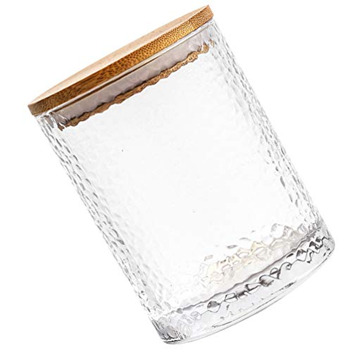 Best Buy! Cabilock Glass Jar with Airtight Seal Wood Lid Clear Candy Jar Food Storage Canister for S...