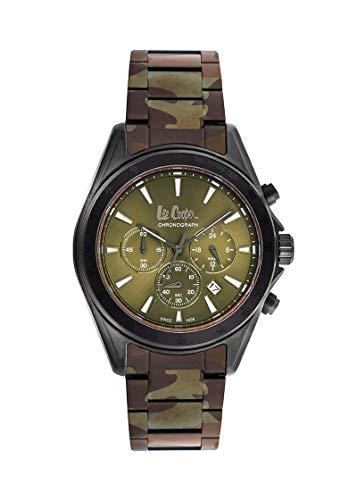 Lee Cooper Reloj Analógico para Hombre de Cuarzo con Correa en Metal LC06973.070