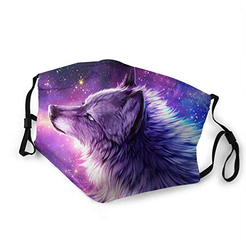 Unisex Reusable Adjustable Anti Dust Galaxy Wolf Fashion Mouth Face Scarf, Face Mouth Mask, School Balaclava Magic Scarf for Cycling Camping Travel for Boys