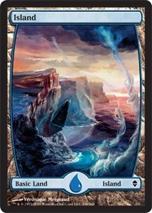 Magic The Gathering - Island - Full Art (236) - Zendikar - Foil