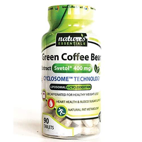 Liposomal Svetol Green Coffee Bean Extract   400mg per Pill   Clinically Studied Weight-Loss   Maximum Absorption Formula   3 Month Supply   Non-GMO   Gluten-Free   Vegetarian   Lab Certified   USA
