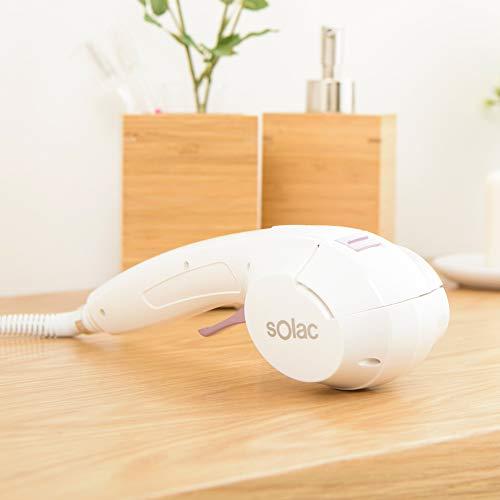 Solac MD7411 Precise Ionic Wave - Rizador de pelo automático, moldeador de pelo, función iónica, recubrimiento cerámico, señales acústicas, rápido calentamiento, bolsa de almacenaje