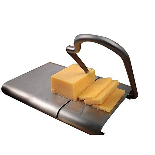 DXFFOK Queso máquina de Cortar Acero Inoxidable DIY hornada Mantequilla Cortador de Alambre Vegetales Utensilios de Cocina Antideslizante Frutos prácticos Duro de fácil Limpieza