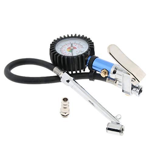 harayaa Inflador de Neumáticos con Manómetro de Aire, Longitud Total Incluida La Manguera: 51 Cm /