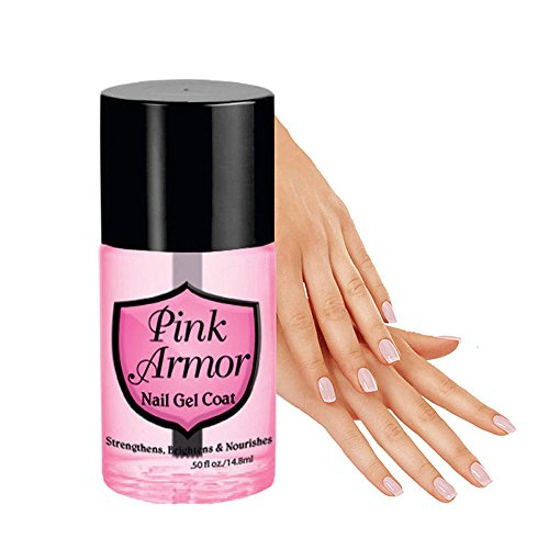 Pink Armour Nail Gel, Alonea Armour Nail Nutrition Gel Polish Remedy Fix Protective Layer Keratin Gel (5 Bottle)
