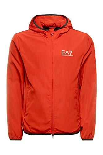 EA7 Emporio Armani Giubbino uomo con Cappuccio Colore Rosso Art.8NPB04PNN7Z-1451