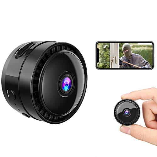 Mansso Mini Hidden Camera - 1080P Wireless WiFi Nanny Cam Home Camera,Small Portable Camera with Watch Band, Micro Surveillance Camera with Video Recording