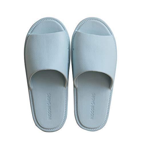 TFENG Herren Pantoffeln, Unisex Hausschuhe Indoor Hause Slippers, House Schuhe (Blau, Gr.35-36 EU)