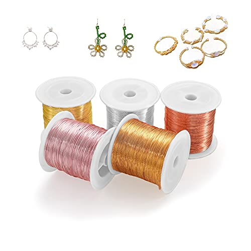 YRYPVD DIY craft Colorfast Copper Wire For DIY Bracelet Necklace Craft Jewelry Making Finding Supplies Beading Wire for DIY Nail Art, Jewelry Beading (Color : Brown, Size : 1.0mm 30m Per Roll)