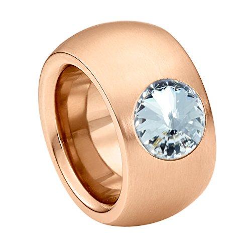 Heideman Ring Damen aus Edelstahl Rosegold farbend matt Damenring für Frauen mit Stein
