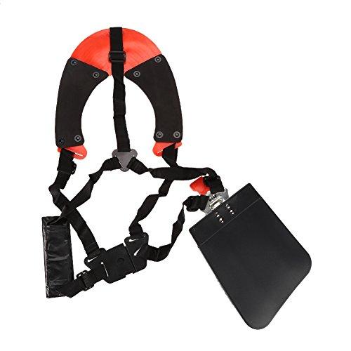 Trim Correa de Hombro Doble Profesional, Arnés Amortiguación de Impacto Ajustable Almohadilla para el Hombro Cinturón de Seguridad para Todo Tipo de Recortadoras Grandes y Pesadas y Desbrozadoras.