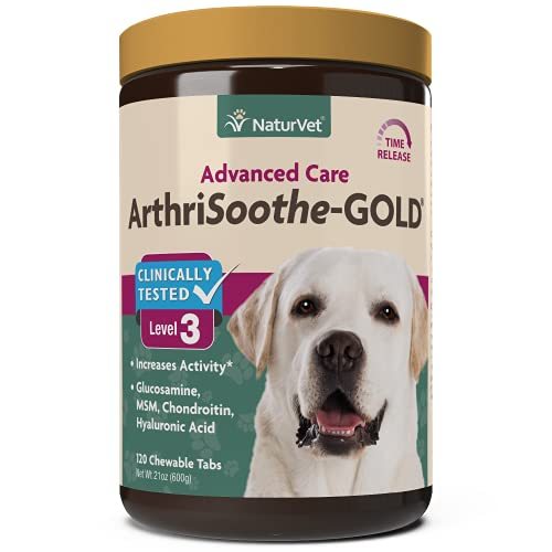 NaturVet ARTHRISOOTHE-GOLD Healthy Hip & Joint Flexibility For Dogs 120 Tablets