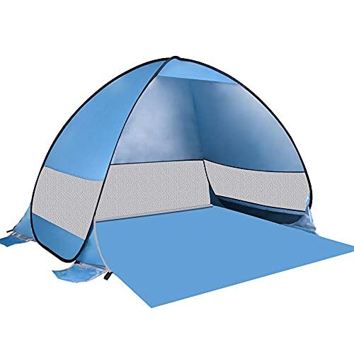 Idefair Tenda da Spiaggia Pop-up, Tenda da Sole Automatica Anti-UV Ombra Impermeabile Grande Tenda Istantanea Tenda da Campeggio all aperto per Spiaggia Campeggio picnic Pesca Giardino nel Cortile