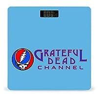 Grateful Dead 体重計、ステップオンテクノロジーを備えた精密デジタルボディバスルームスケール、強化ガラスイージーリードバックライト付きLCDディスプレイ