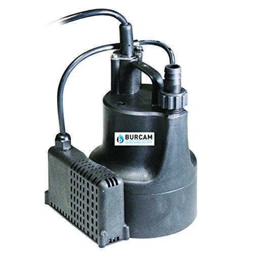 BURCAM 300506SB 1/6 HP Automatic Submersible Utility Pump, Black/Blue