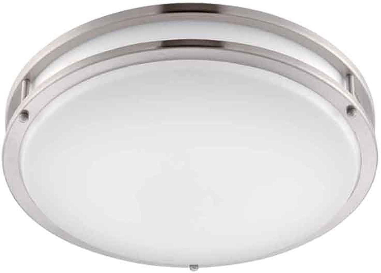 Designers Fountain EV1414L30-35 Low Profile LED Flush Mount Ceiling Lighting Fixture, 14 , Brushed Nickel White