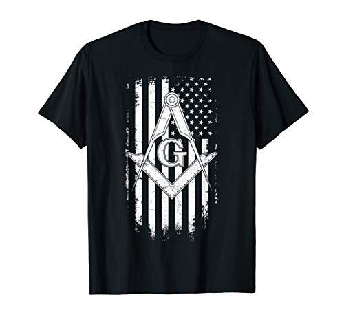 Masonic American Flag Square and Compass - Freemason T-Shirt T-Shirt