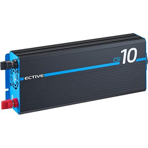 ECTIVE 1000W 24V zu 230V Reiner Sinus-Wechselrichter CSI 10 mit Batterie-Ladegerät, NVS- und USV-Funktion