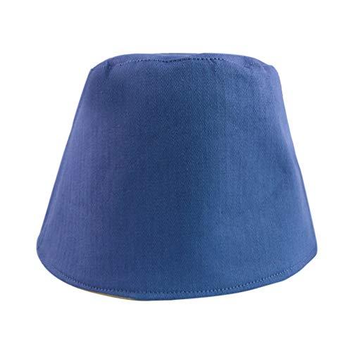 MTBDLYQ Chapeau De Pêcheur Femme,Unisex Korean Fisherman Hat Solid Color Herringbone Blue Foldable Bucket Cap, for Men Women Travel Randonnée Casual Hat Adult Flat Sun Hat