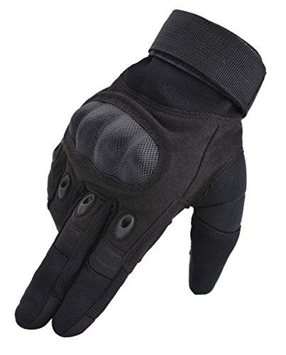 Coofit Taktische Handschuhe Winter Motorrad Handschuhe Herren Vollfinger Army Gloves Biking Skifahre Handschuhe (Schwarz, XL)