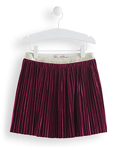 Amazon-Marke: RED WAGON Mädchen Rock Velvet Pleated, Violett (Maroon), 134, Label:9 Years