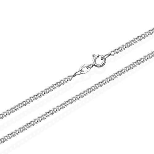 NKlaus 38cm genuino 925 collar de cadena de plata de tanque 1.70mm de ancho 6640