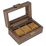 Sharplace Caja de Reloj Vintage Organizador de Vitrinas de Madera con Tapa...