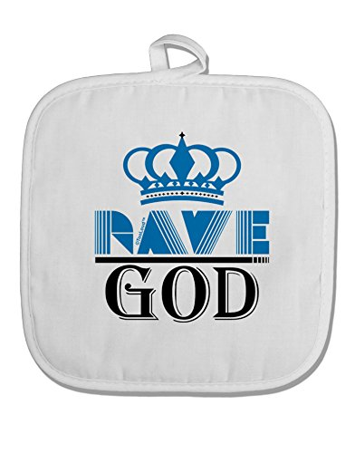 TOOLOUD Rave God White Fabric Pot Holder Hot Pad