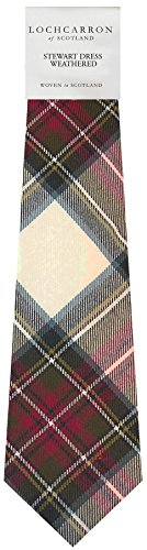 I Luv Ltd Gents Neck Tie Stewart Dress Weathered Tartan Lightweight Scottish Clan Tie