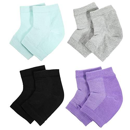 EXCEART 4 Pares de Calcetines de Gel para Ventilar Calcetines de Punta Abierta Calcetines de Compresión Suavizante de Talón para Piel Seca Y Agrietada Hidratante Cuidado de La Piel de Día