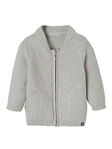 Vertbaudet Baby-Strickjacke für Jungen, Baumwolle grau meliert 80