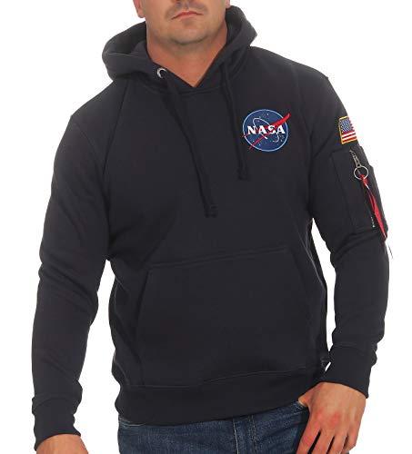 ALPHA INDUSTRIES Herren Space Shuttle Hoody Sweatshirt, Bleu Foncã, XL