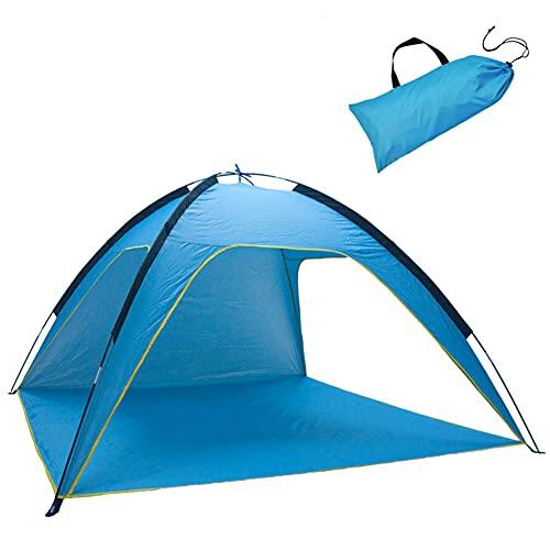 XCUGK Tienda de Playa Pop Up 3-4 Personas Tienda de Playa Anti UV Portátil para Playa Jardín Camping Viajes Pesca Picnic y Deportes al Aire Libre