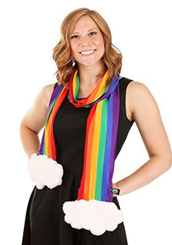 Bufanda de traje de arco iris con bolsillos con cremallera para nios y adultos
